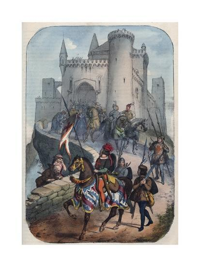 Departure of the Lombards for the First Crusade-Stefano Bianchetti-Giclee Print