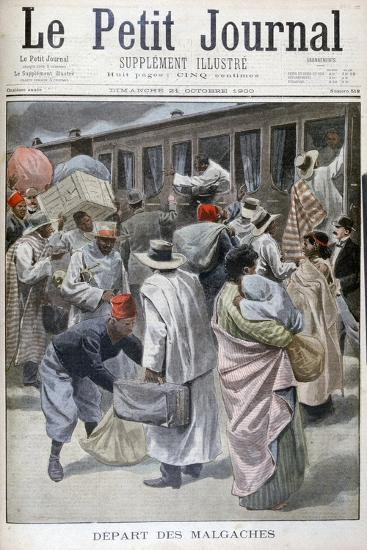 Departure of the Madagascans, Universal Exhibition of 1900, Paris, 1900--Giclee Print