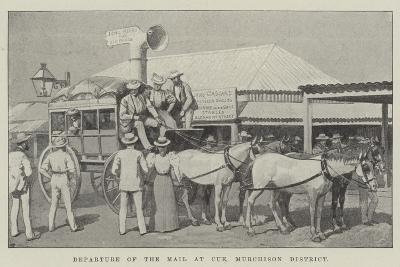 Departure of the Mail at Cue, Murchison District--Giclee Print