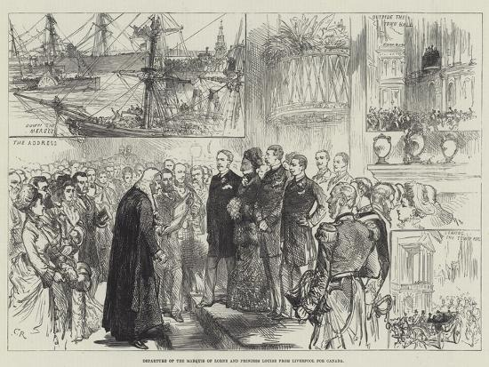 Departure of the Marquis of Lorne and Princess Louise from Liverpool for Canada-Charles Robinson-Giclee Print
