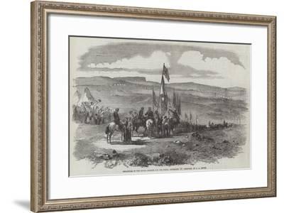 Departure of the Naval Brigade for the Fleet, 10 September--Framed Giclee Print