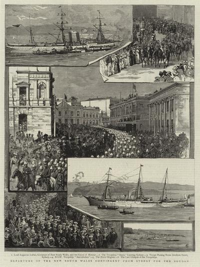 Departure of the New South Wales Contingent from Sydney for the Soudan--Giclee Print
