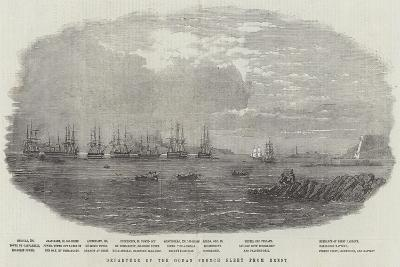 Departure of the Ocean French Fleet from Brest--Giclee Print