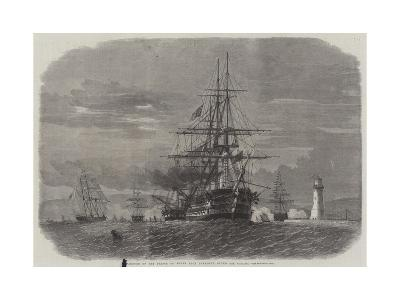 Departure of the Prince of Wales from Plymouth Sound for Canada-Edwin Weedon-Giclee Print