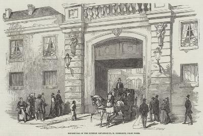 Departure of the Russian Ambassador, M Kisseleff, from Paris--Giclee Print
