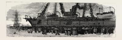 Departure of the Troop Ship Deccan from Portsmouth, the Camel Corps for the Nile Expedition, 1884--Giclee Print