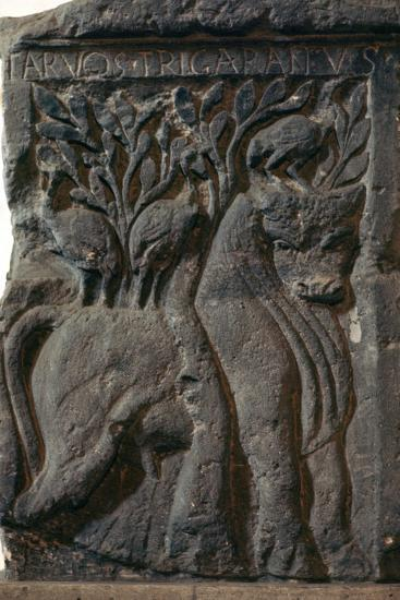 Depiction of a Celtic deity, a bull with three cranes, 1st century. Artist: Unknown-Unknown-Giclee Print