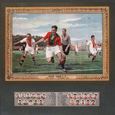 Depiction of a Match Between Ado Den Haag and Ajax, 1933--Giclee Print
