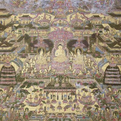Depiction of Spiritual and Material Worlds-Japanese School-Giclee Print