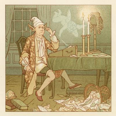 Depiction of the Month of February-Robert Dudley-Giclee Print