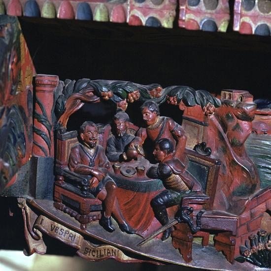 Depiction of the Sicilian Vespers, 13th century-Unknown-Giclee Print