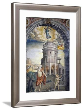 Depiction of the Sign of Virgo with a Man Drinking--Framed Giclee Print