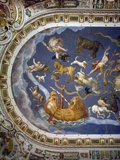 Depiction of Zodiac, Detail from Ceiling of Hall of Maps, Palazzo Farnese, Caprarola, Italy--Giclee Print