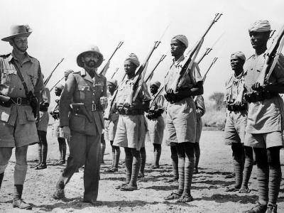 Deposed Ethiopian Leader, Haile Selassie with Ethiopians Soldiers Fighting for British, Mar 10 1941--Photo