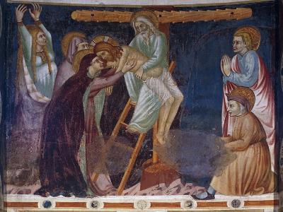 Deposition, 14th-Century Fresco of Apse, Basilica of Sant'Abbondio Como, Italy, 11th-16th Century--Giclee Print
