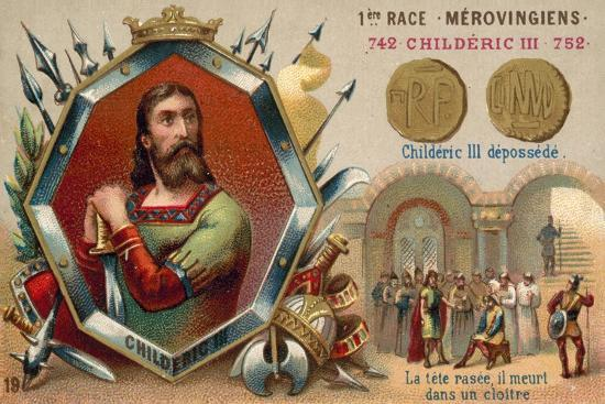 Deposition of Childeric III, 752--Giclee Print