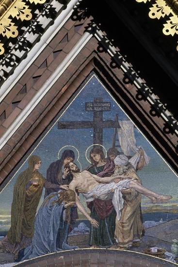 Deposition of Jesus from Cross, Mosaic on Tympanum on Cathedral of Resurrection of Christ--Giclee Print