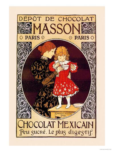 Depot de Chocolat Masson: Chocolat Mexicain-Eugene Grasset-Art Print