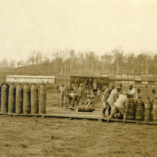 Depot for large shells, c1914-c1918-Unknown-Photographic Print