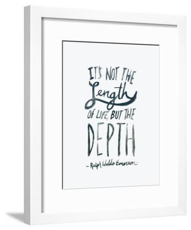 Depth-Leah Flores-Framed Art Print