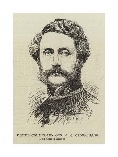 Deputy-Commissary General a C Crookshank--Giclee Print