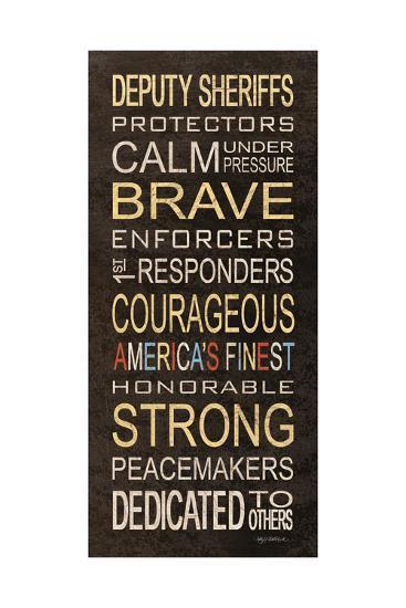 Deputy Sheriffs-Kathy Middlebrook-Art Print
