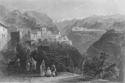 Der-El-Kamar, and the Palaces of Beteddein, 1837-Thomas Abiel Prior-Giclee Print