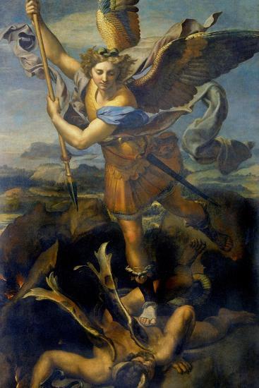 Der Hl, Michael Besiegt Den Teufel, 1518-Raffael-Giclee Print