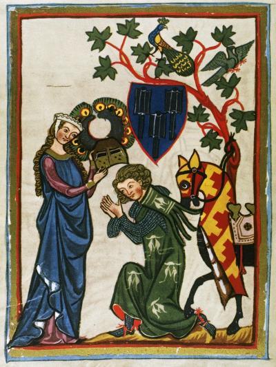 Der Schenk Von Limburg, Ministerial Swabian (Mid 13th Century) Says Goodbye to His Lady before…--Giclee Print