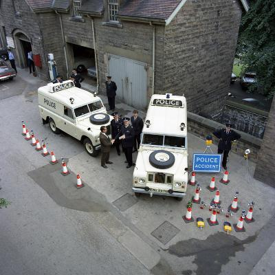 Derbyshire Police Commissioner Taking Delivery of Two New Land Rovers, Matlock, Derbyshire, 1969-Michael Walters-Photographic Print