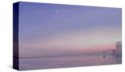 Moon over Varanasi
