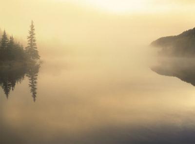 Sunrise on Fog Lake by Derek Jecxz