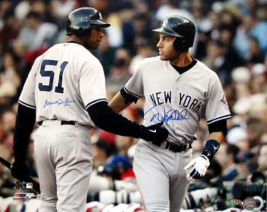 the latest b202f bca4d Derek Jeter/ Bernie Williams Dual Signed Away Jersey (MLB Auth) Photo by |  Art.com
