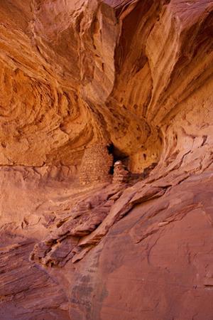Ancestral Anasazi Ruins in An Alcove at Honeymoon Arch by Derek Von Briesen