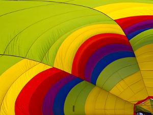 Detail of a Deflated Hot Air Balloon at the White Sands Invitational Balloon Festival by Derek Von Briesen