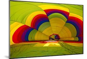 Interior of a Deflated Hot Air Balloon at the White Sands Invitational Balloon Festival by Derek Von Briesen