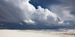 Monsoon Clouds over Dunes in White Sands National Monument by Derek Von Briesen