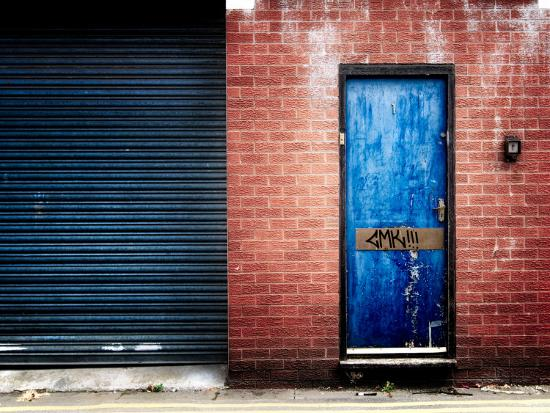Derelict Door with Graffiti-Clive Nolan-Photographic Print