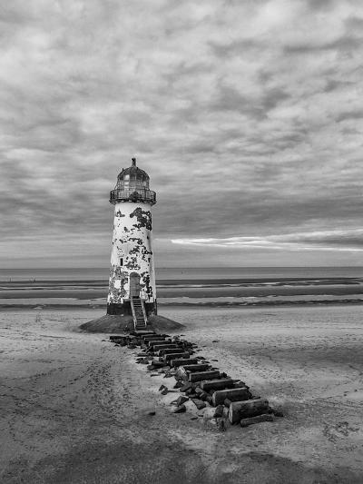 Derelict Lighthouse at Low Tide-Chris Billington-Photographic Print