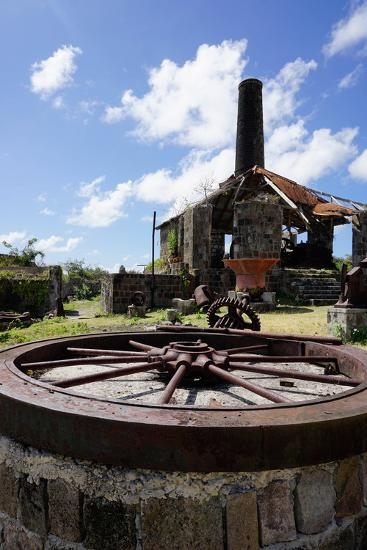 Derelict Old Sugar Mill, Nevis, St. Kitts and Nevis-Robert Harding-Photographic Print