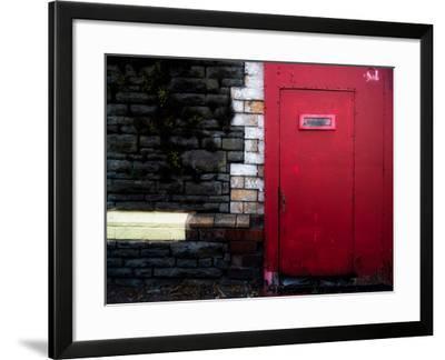 Derelict Red Door-Clive Nolan-Framed Photographic Print