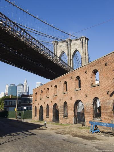 Derelict Warehouses Under Brooklyn Bridge, Brooklyn, New York City, New York, USA-Amanda Hall-Photographic Print