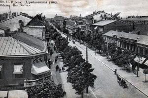 Deribasovskaya Street, Odessa, Russia, Mid 19th Century