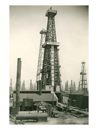 Derrick and Oil Field--Art Print