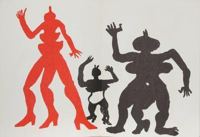 Derrier le Miroir (Three Acrobats)-Alexander Calder-Collectable Print