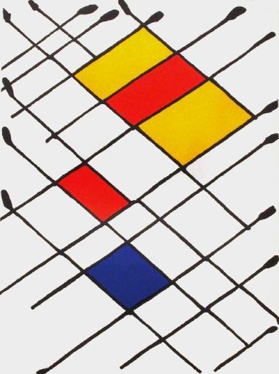 Derrier le Mirroir, no. 156: Damier-Alexander Calder-Collectable Print