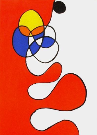 Derrier le Mirroir, no. 173: Composition V-Alexander Calder-Collectable Print