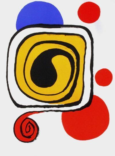 Derrier le Mirroir, no. 190: Composition III-Alexander Calder-Premium Edition