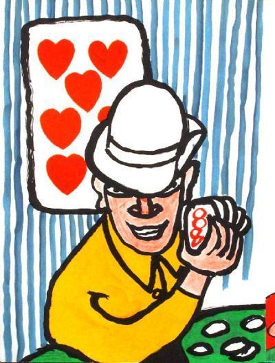 Derrier le Mirroir, no. 212: Joueurs De Cartes II-Alexander Calder-Collectable Print