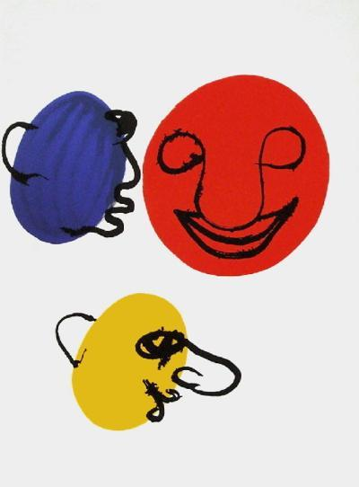 Derrier le Mirroir, no. 221: Visages-Alexander Calder-Collectable Print